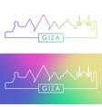 giza city skyline colorful linear style editable vector image