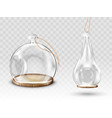 glass christmas balls hanging dome with hole vector image