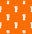 hand showing number four pattern seamless vector image vector image