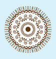 henna tattoo brown mehndi flower template doodle vector image vector image