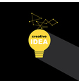 Idea bulb icon concept creative background vector image vector image