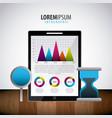 infographic statistics analysis vector image vector image