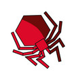 isolated hacker virus spider vector image vector image