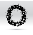 Letter O formed by inkblots vector image vector image