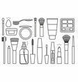 makeup tools icons vector image vector image