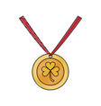 medal with clover vector image