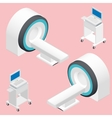 MRI and ECG medical devices isometric icon set vector image