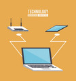 office technology devices vector image