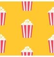 Seamless Pattern Popcorn Cinema icon Yellow vector image