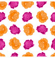 seamless repeating pattern of roses vector image vector image