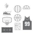 set basketball vintage design elements vector image