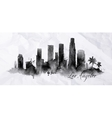 Silhouette ink Los Angeles vector image vector image