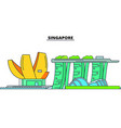 singapore line skyline vector image