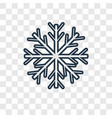 snowflake concept linear icon isolated on vector image vector image