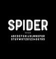 spider web style font design alphabet letters and vector image