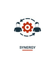 synergy icon premium style design from teamwork vector image vector image