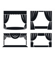 theatrical stage icon set simple style vector image