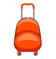 travel plastic suitcase vector image vector image