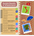 Vietnam infographics statistical data sights vector image