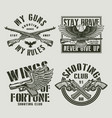 vintage military labels vector image vector image