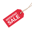 weekend sale sign vector image vector image