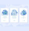 winter ski resort app ui line vector image