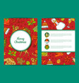 Xmas tree gifts and bells card template