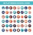 Set of modern flat design school college icons vector image