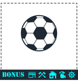 Soccer ball icon flat vector image
