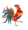 Image of a colorful bright red cock come on a vector image