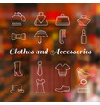 woman accessories icons set lineart vector image