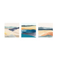 abstract landscape background with japanese vector image