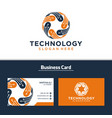 abstract technology logo design image vector image vector image