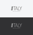 alphabet italy design concept with flat sign vector image vector image
