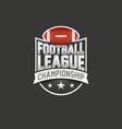 american football league logo sport emblem vector image