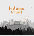 autumn forest landscape vector image