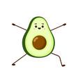 avocado yoga for pregnant women vector image vector image