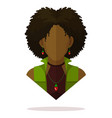 black women avatar vector image vector image