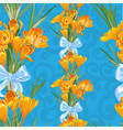blue seamless backround from spring yellow vector image