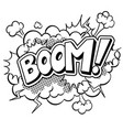 boom word comic book coloring vector image vector image