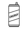 caffeine energy drink icon outline style vector image vector image