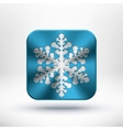 Christmas metal snowflake icon vector | Price: 1 Credit (USD $1)