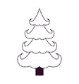 christmas tree on dotted monochrome silhouette vector image vector image