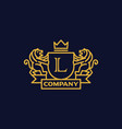 coat of arms letter l company vector image vector image