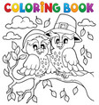 coloring book thanksgiving image 5 vector image vector image