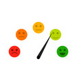 credit indicator with mood face sad and cheerful vector image