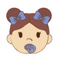 cute baby girl icon vector image vector image