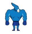 Democrat Donkey boxer Strong Blue Animal boxing vector image