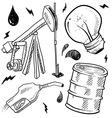 doodle power source oil vector image vector image