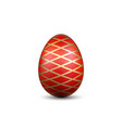 easter egg 3d icon red gold egg isolated white vector image vector image